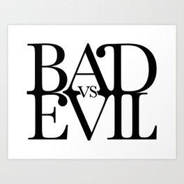 BADvsEVIL Music Art Print