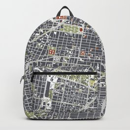 Mexico city map engraving Backpack