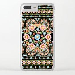 Millefiori Rosette Clear iPhone Case