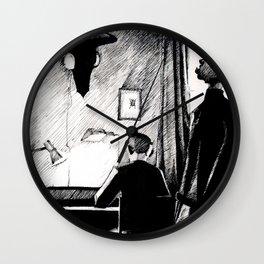 A 221B Scene Wall Clock