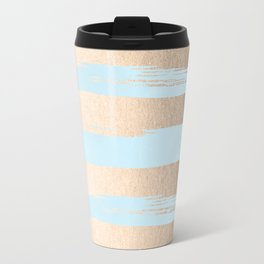 Paint Stripes Gold Tropical Ocean Sea Turquoise Travel Mug
