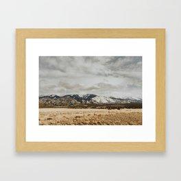 Great Sand Dunes National Park - Mountains II Framed Art Print