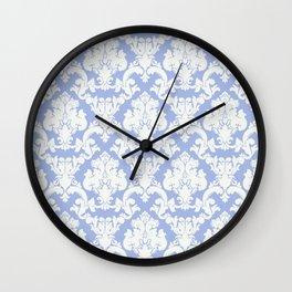 wedgewood blue damask Wall Clock