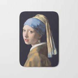 Girl With a Pearl Earring - Vermeer Bath Mat
