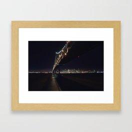 San Francisco Bay Bridge Skyline Framed Art Print