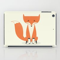 socks iPad Cases featuring A Fox With Socks by Zach Terrell