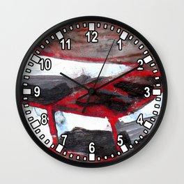 red match box Wall Clock