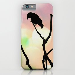 The Lonely Crow At Sunset iPhone Case