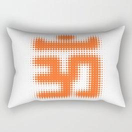 Aum Orange Rectangular Pillow