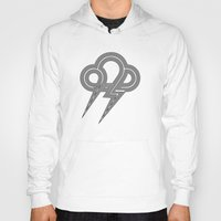 lightning Hoodies featuring Lightning by Heiko Hoos