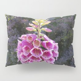 Gloves in summer!  Foxglove, Digitalis purpurea Pillow Sham