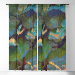 Dappled #botanical #nature #leaves #watercolor Blackout Curtain