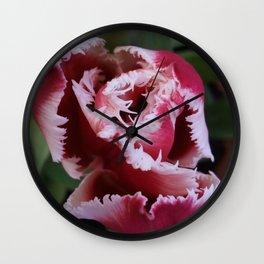 Fringed Tulip Wall Clock