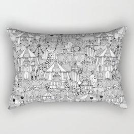 retro circus black white Rectangular Pillow