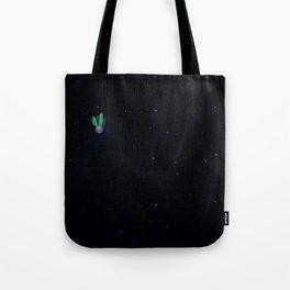 green cactu in the space Tote Bag