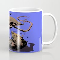 rat Mugs featuring rat fight by antoniopiedade