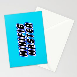 MINIFIG MASTER in Brick Font Logo Design [Alternate Colors] by Chillee Wilson Stationery Cards