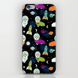 Welsh Corgi outer space cadet space camp rockets astronaut dog breed corgis gifts iPhone Skin