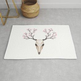 Blooming deer skull Rug