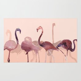 Summer Flamingos Rug