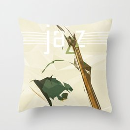 Contrabassist. Jazz Club Poster Throw Pillow