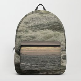 Waves at sunset Backpack