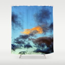 Fishy Cloud Glows in the Sky Shower Curtain