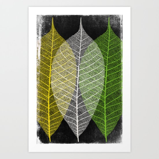 'Natural Dry Leaves' Art Print