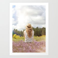 Sea Lavender Art Print
