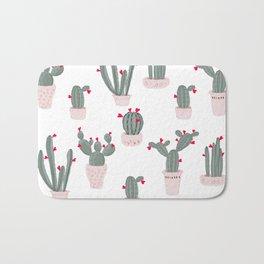 Love in the Desert Cacti Pattern Bath Mat