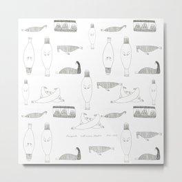 Walrus Square Metal Print