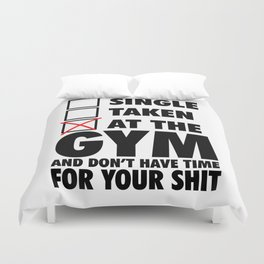 At The GYM  Duvet Cover