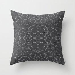 Fancy Halloween Black Throw Pillow