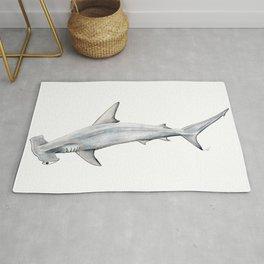 Hammerhead shark for shark lovers, divers and fishermen Rug