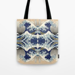 The Great Wave off Kanagawa Symmetry Tote Bag