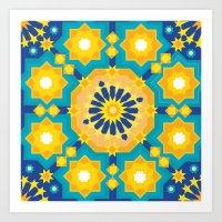 sacred geometry Art Prints featuring Sacred Geometry by Tashi Delek
