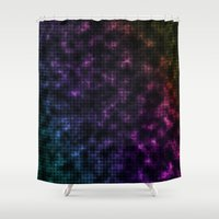 grid Shower Curtains featuring Grid by White Wolf Wizard