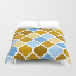 MOROCCAN BROWN AND BLUE DESIGN Duvet Cover