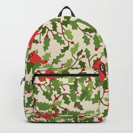 Christmas birds pattern Backpack