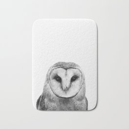 Black and white Owl Bath Mat