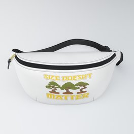 Funny Size Doesn't Matter Small Bonsai Tree Plant Fanny Pack