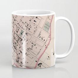 Vintage Map of Charlottesville VA (1877) Coffee Mug