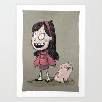 Mabel Pines Art Print