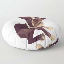 Low Polygon Boston Terrier Floor Pillow