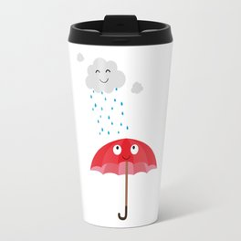 Rain cloud and umbrella   Travel Mug