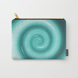 Turquoise burst Carry-All Pouch