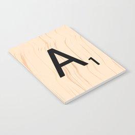 Letter A Scrabble Art Notebook