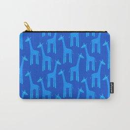 Giraffes-Blue Carry-All Pouch