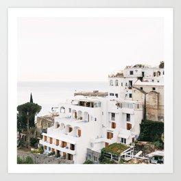 Cliffside View, Positano Art Print