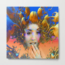 Organic Medusa Metal Print